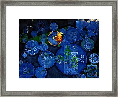 Framed Print featuring the digital art Abstract Painting - Dark Midnight Blue by Vitaliy Gladkiy