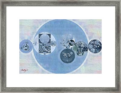 Abstract Painting - Dark Pastel Blue Framed Print by Vitaliy Gladkiy