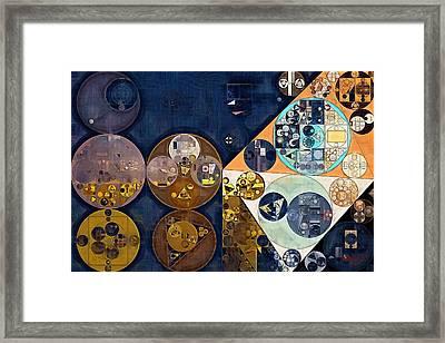 Abstract Painting - Dark Wood Framed Print by Vitaliy Gladkiy