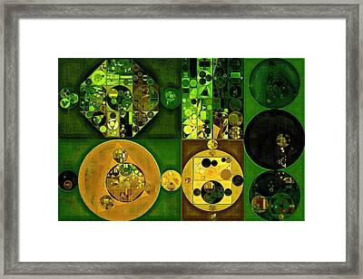 Abstract Painting - Dell Framed Print by Vitaliy Gladkiy