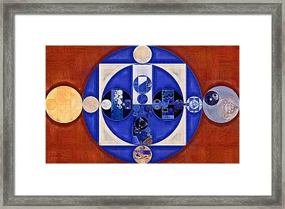 Abstract Painting - Egyptian Blue Framed Print