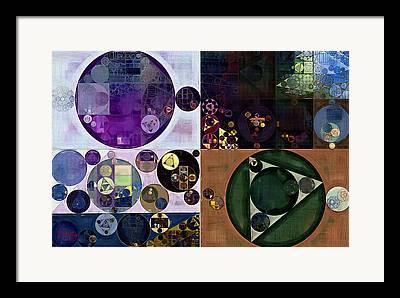 Green Geometric Style Framed Prints