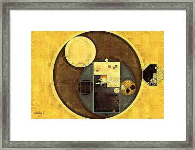 Abstract Painting - Festival Framed Print