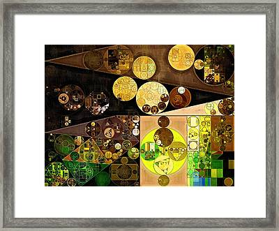Abstract Painting - Golden Sand Framed Print