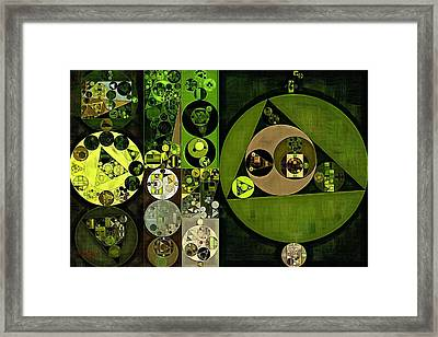 Abstract Painting - Green Leaf Framed Print