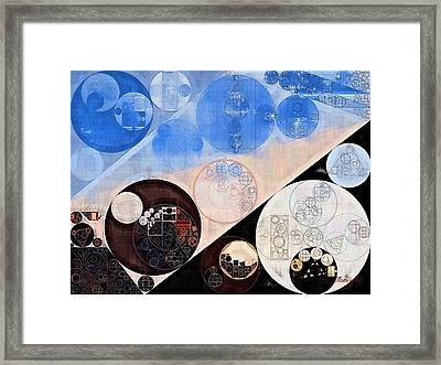Abstract Painting - Havelock Blue Framed Print by Vitaliy Gladkiy