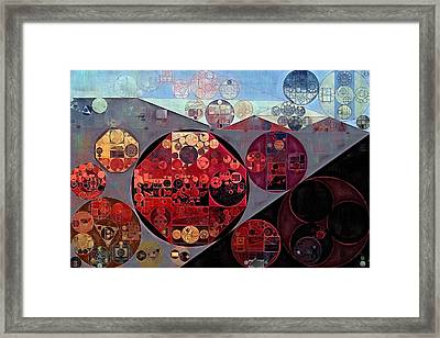 Abstract Painting - Seller Pomegranate Framed Print