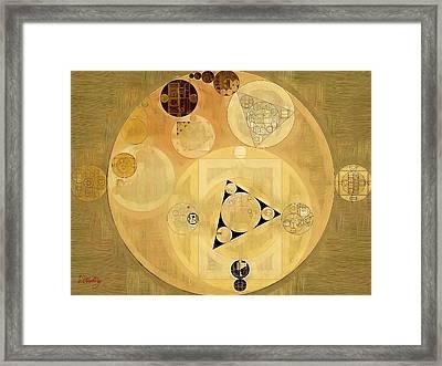 Abstract Painting - Indian Tan Framed Print by Vitaliy Gladkiy