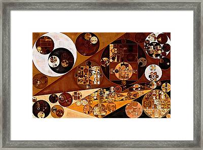 Abstract Painting - Light Brown Framed Print