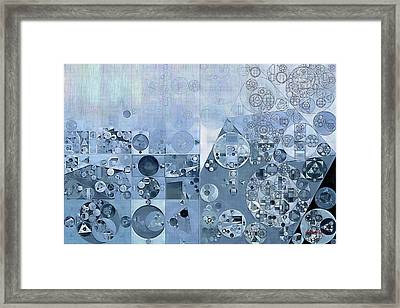 Abstract Painting - Light Steel Blue Framed Print