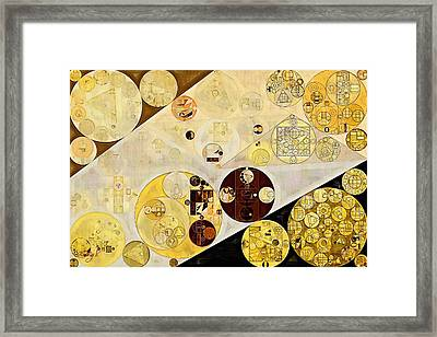 Abstract Painting - Metallic Gold Framed Print