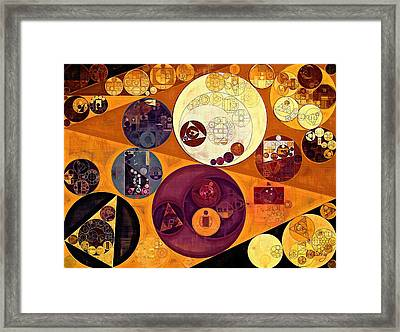 Abstract Painting - Ochre Framed Print by Vitaliy Gladkiy