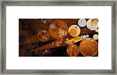 Abstract Painting - Pale Gold Framed Print by Vitaliy Gladkiy