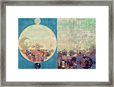 Abstract Painting - Parchment Framed Print