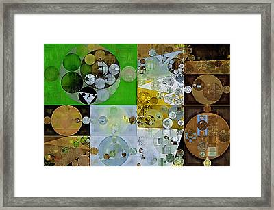 Abstract Painting - Pesto Framed Print