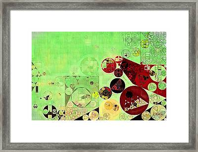 Abstract Painting - Reef Framed Print
