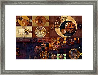 Abstract Painting - Russet Framed Print by Vitaliy Gladkiy