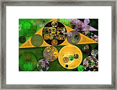 Abstract Painting - Sahara Framed Print