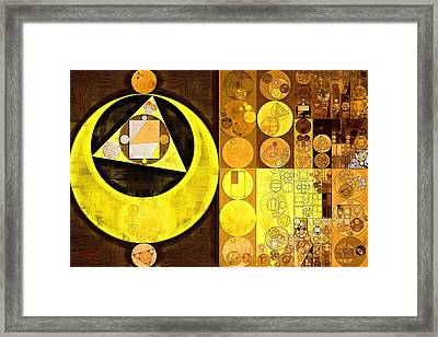 Abstract Painting - Sandstorm Framed Print by Vitaliy Gladkiy