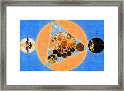 Framed Print featuring the digital art Abstract Painting - Sandy Brown by Vitaliy Gladkiy