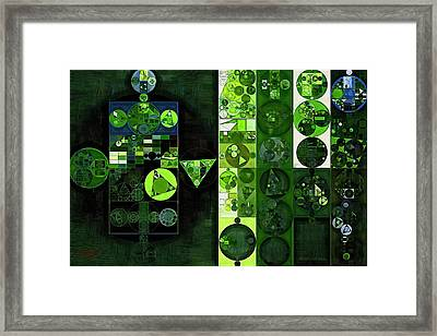 Abstract Painting - Sap Green Framed Print by Vitaliy Gladkiy