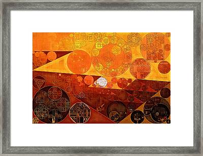 Abstract Painting - Sienna Framed Print by Vitaliy Gladkiy