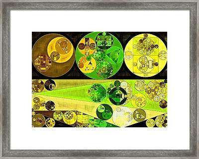 Framed Print featuring the digital art Abstract Painting - Starship by Vitaliy Gladkiy