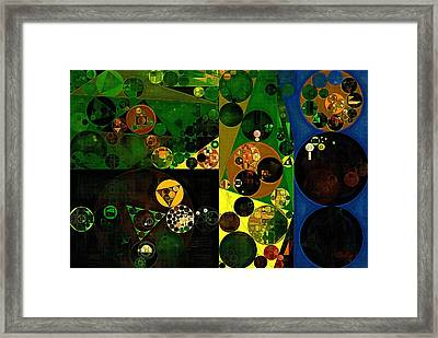 Abstract Painting - Sunflower Framed Print