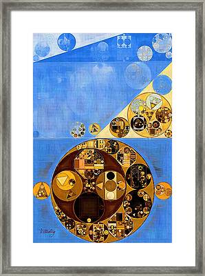 Abstract Painting - United Nations Blue Framed Print