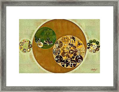 Abstract Painting - Winter Hazel Framed Print by Vitaliy Gladkiy