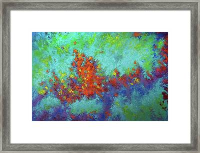 Abstract Pallet Oil Color Framed Print