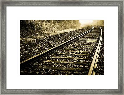 Abstract Railway  Framed Print by Tommytechno Sweden