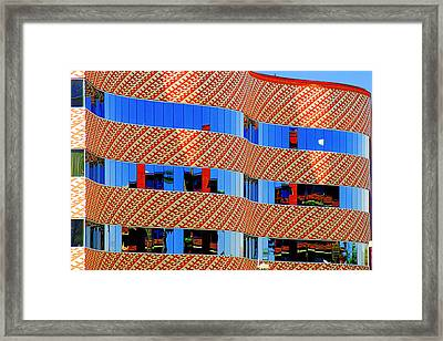 Abstract Reflections In Glass Tucson Arizona Framed Print by Christine Till