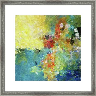 Framed Print featuring the painting Abstract Seascape Painting by Ayse Deniz