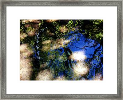 Abstract Water Blues Framed Print by Heather S Huston