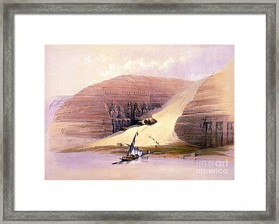 Abu Simbel Temple, 1830s Framed Print by Science Source
