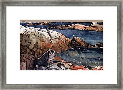 Acadia Rocks Framed Print by Donald Maier