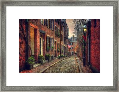 Acorn Street - Boston Framed Print