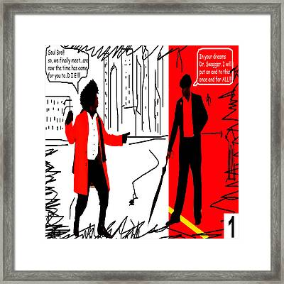 Action Hero Series Vol 1 Framed Print by Etop Akpabio