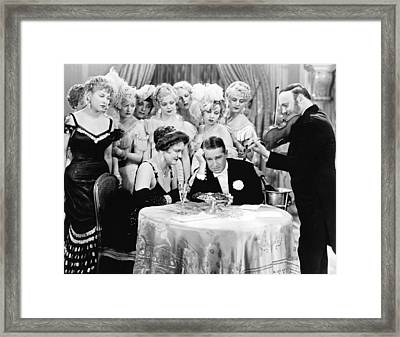 Actor Maurice Chevalier Framed Print