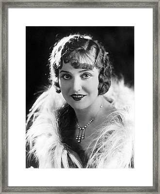 Actress Agnes Ayres Framed Print by Underwood Archives