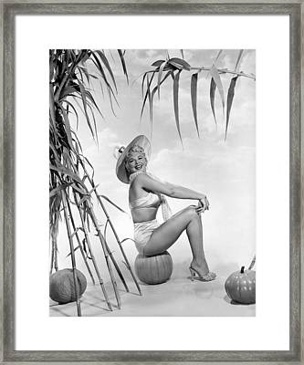 Actress Barbara Nichols Framed Print by Underwood Archives