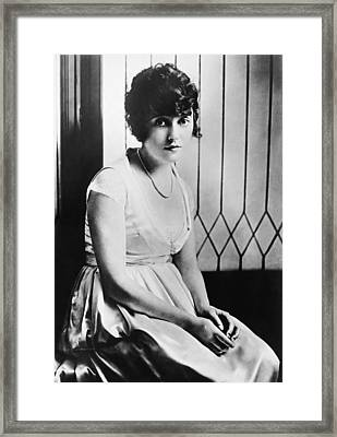 Actress Mabel Normand Framed Print by Underwood Archives