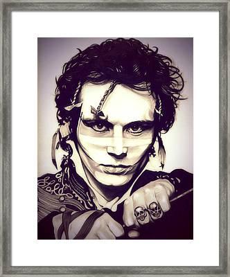 Adam Ant Framed Print by Fred Larucci