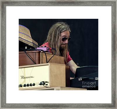 Adam Macdougall With The Black Crowes Framed Print by David Oppenheimer