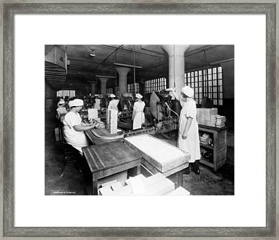 Adams Chiclet Company Framed Print by Underwood Archives