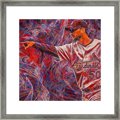 #adamwainwright #50 #cardinals Framed Print