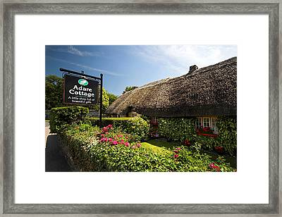 Adare Thatch Roof Cottages Ireland Framed Print by Pierre Leclerc Photography