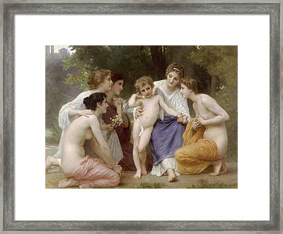 Admiration Framed Print by William-Adolphe Bouguereau