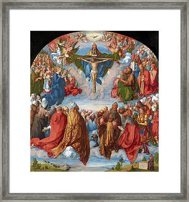 Adoration Of The Trinity  Framed Print